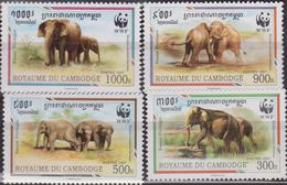 Cambodia WWF Malayan Elephant 4 Stamps SG#1620/23 SC#1597 A-d MI#1680-83 MNH - W.W.F.