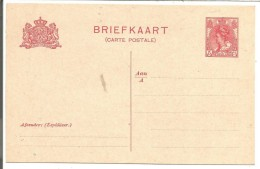 PAYS BAS ENTIER CARTE NEUF - Postal Stationery