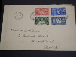 GRANDE BRETAGNE - Enveloppe De Hedon Pour Marseille , Affranchissement Plaisant - A Voir - L  3605 - 1952-.... (Elizabeth II)