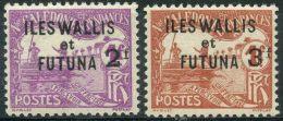 Wallis Et Futuna (1927) Taxe N 9 + 10 * (charniere)