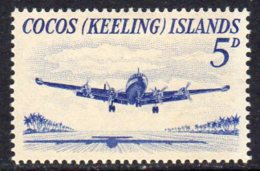 Cocos (Keeling) Islands 1963 5d Definitive, Hinged Mint (B) - Cocos (Keeling) Islands