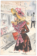 Art Nouveau RAPHAEL KIRCHNER - BOZZETTO DISEGNATO A MANO - SAGGIO -  INEDITA - - Kirchner, Raphael