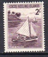 Cocos (Keeling) Islands 1963 2/- Definitive, Hinged Mint (B) - Cocos (Keeling) Islands