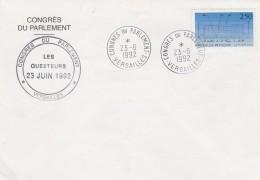 Yvert  2736 Expo 92 Séville Sur Lettre Cachet Congrès Du Parlement  Versailles 23/6/1992 - France