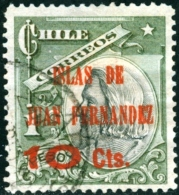 CILE, CHILE, COMMEMORATIVO, CRISTOFORO COLOMBO, 1910, FRANCOBOLLO USATO, Scott 80 - Chile