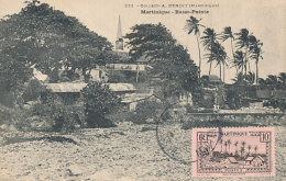 D26116 CARTE MAXIMUM CARD 1937 MARTINIQUE - BASSE POINTE GENERAL VIEW CHURCH AND TREES CP ORIGINAL - Architecture