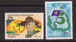 Cocos (Keeling) Islands 1982 75th Anniversary Of Boy Scouts Set Of 2, MNH (B) - Cocos (Keeling) Islands