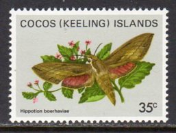 Cocos (Keeling) Islands 1982 Butterflies Definitives 35c Value, MNH (B) - Cocos (Keeling) Islands