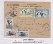 TAAF - Iles Australes - Kerguelen - Galliéni - Ministere Fom - - Covers & Documents