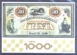 Brasil HB 37 ** Banco Del Brasil. 1976 - Blocks & Sheetlets