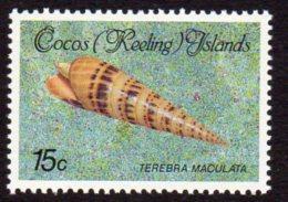 Cocos (Keeling) Islands 1985 Shells & Molluscs Definitives 15c Value, MNH (B) - Cocos (Keeling) Islands
