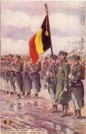 CP - Chasseurs à Pied Belges - Au Drapeau - Belgische Vlag - Oorlog 1914 - 1918 - Guerre 1914-18