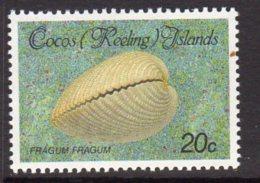 Cocos (Keeling) Islands 1985 Shells & Molluscs Definitives 20c Value, MNH (B) - Cocos (Keeling) Islands