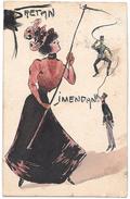 Art Nouveau RAPHAEL KIRCHNER? -  CARTOLINA DIPINTA A MANO !  - INEDITA  RRR  UNICA - Kirchner, Raphael