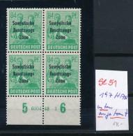 SBZ   Nr. 4x197 HAN Leicht Angetrennt **  ( Se51  ) Siehe Scan ! - Sowjetische Zone (SBZ)