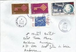 France: Europa 1968, Sur Lettre Adressée ANDORRA, Avec Timbre à Date Arrivée - Europa-CEPT