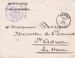 Belgique - Postes Belge à St-Adresse - Lettre De La Panne à Le Havre - 1917 - Guerre 14-18