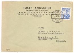 COVER GRAZ To HAMBURG. 1957.