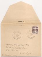 COVER TRYKSAGER KOBENHAVN DANMARK TO SVERIGE. 1950. - Danemark