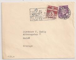 COVER KOBENHAVN DANMARK TO SVERIGE. 1956.