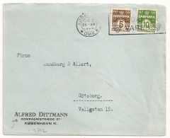 COVER  KOBENHAVN OMK DANMARK TO Goteborg SVERIGE. 1928.. - 1913-47 (Christian X)