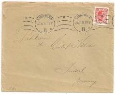 COVER  KOBENHAVN B DANMARK TO SVERIGE. 1915. - Briefe U. Dokumente
