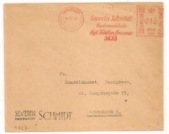 COVER HADERSLEV DANMARK Severin Schmidt. 1945. - Marcophilie - EMA (Empreintes Machines)