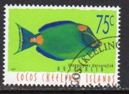 Cocos (Keeling) Islands 1995 Marine Life Definitive 75c Value, Used (B) - Cocos (Keeling) Islands