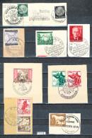 Deutsches Reich  Schönes Lot  Von 8 Verschiedenen Briefstücken  Mit Sonderstempel