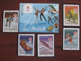 Hungary 1992 MNH Imperf - Winter 1992: Albertville