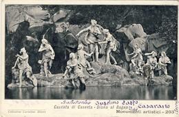 CASCATA DI CASERTA, Diana Al Bagno, 1903, 2 Scans - Caserta