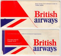 BRITISH AIRWAYS TICKET AND COVER 1980 - Europe