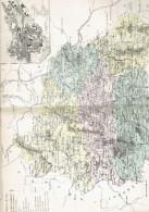CARTE GEOGRAPHIQUE 1880 FRANCE DEPARTEMENT DU PUY DE DOME PLAN DE CLERMONT FERRAND PAR MALTE BRUN - Mapas Geográficas