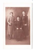 PORTRAIT DE TROIS FEMMES, Photographe V. MAS Cherbourg 1910 Environ - Photographie