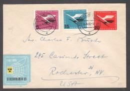 Germany1955: Michel205,207-8 On Cover(correct Postage..Portogerecht) Cat.Value29Euros($32) - [7] République Fédérale