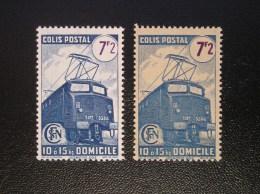 231B  Domicile 2 Timbres NEUF  Avec Charnière Légère . 1 Fond Clair Et 1 Fond Beige - Colis Postaux