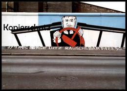 ÄLTERE POSTKARTE GEORGE-LUTZ RAUSCHEBART BERLINER MAUER THE WALL LE MUR BERLIN Art Cpa AK Postcard Ansichtskarte - Berliner Mauer