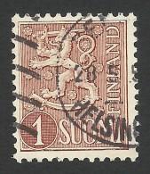 Finland, 1 M. 1955, Sc # 312, Mi # 425, Used. - Finland