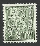 Finland, 2 M. 1955, Sc # 313, Mi # 426, Used - Finland