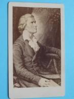 Portrait Friedrich SCHILLER 1759 Marbach Am Neckar - 1805 Weimar ( Literatuur ) ( CDV Photo / Zie Foto's ) ! - Célébrités