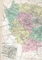 CARTE GEOGRAPHIQUE 1880 FRANCE DEPARTEMENT DE SEINE ET OISE PLAN DE VERSAILLES PAR MALTE BRUN - Cartes Géographiques