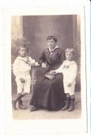 MAMAN ET SES DEUX PETITS GARCONS EN MARINIERES, PORTRAIT, Ed. ? 1910 Environ - Photographie