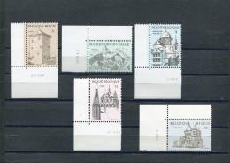 BELGIQUE 1988 Y&T 2288-2292** Chateaux - Nuevos
