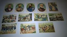 12 Figurine ,edizione L'OREAL DEL 1961,,GIUSEPPE MAZZINI,VITTORIO EMANUELE II,GIUSEPPE GARIBALDI,CAVOUR - Non Classificati