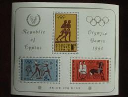 1964 Cyprus - Tokyo Summer Olympic Games - M/s MNH (Various Ancient Greek Sportsmen) - Summer 1964: Tokyo