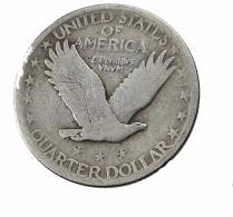 Quart De Dollar - Liberty - USA - 1916-30  - TB+ - Sans Date  - Argent - 1916-1930: Standing Liberty (Libertà In Piedi)