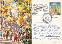Rambla De Las Flores,La Rambla De Barcelona, Entier Postal Adressé ANDORRA,avec Timbre à Date Arrivée - 1931-....