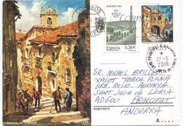 Cuesta De Aldana Y Olmos, CACERES,  Entier Postal Adressé ANDORRA,avec Timbre à Date Arrivée - 1931-....