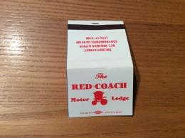 "Pochette D´allumettes ETATS UNIS ""The RED COACH Motor Lodge, SAN FRANCISCO"" - Boites D'allumettes"