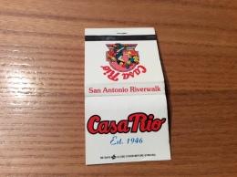 "Pochette D´allumettes ETATS UNIS ""Casa Rio, San Antonio Riverwalk"" - Boites D'allumettes"